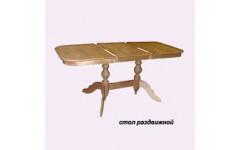 Стол из массива березы Обеденный (Раздвижной) 1600(1200)х800х750 мм (ДхГхВ)