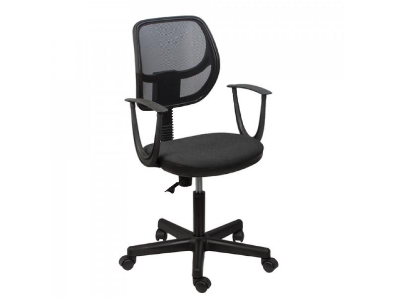 Кресло офисное ПК-10 ткань-сетка (Черно-серый)