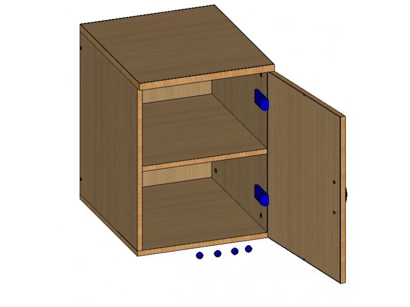 Тумба мобильная с дверцей (Топ 22 мм) 420х490х550 мм (ДхГхВ)