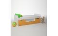 Кровать детская с тремя ящиками 1652х755x602 мм (ДхГхВ)
