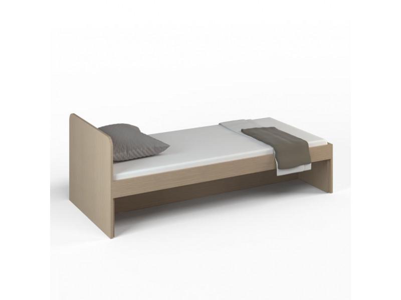 Кровать детская без ящиков 1912x854x722 мм (ДхГхВ) (Ясень Шимо светлый)