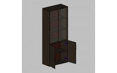 Шкаф для документов в кабинет руководителя 760х380х1890 мм (ДхГхВ)
