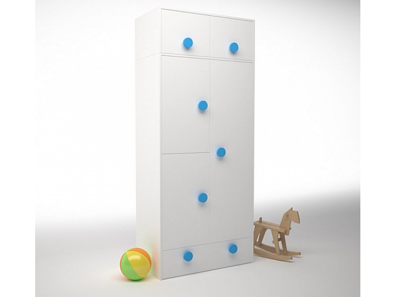 Шкаф створчатый с антресолью 932х504х2116 мм (ДхГхВ)