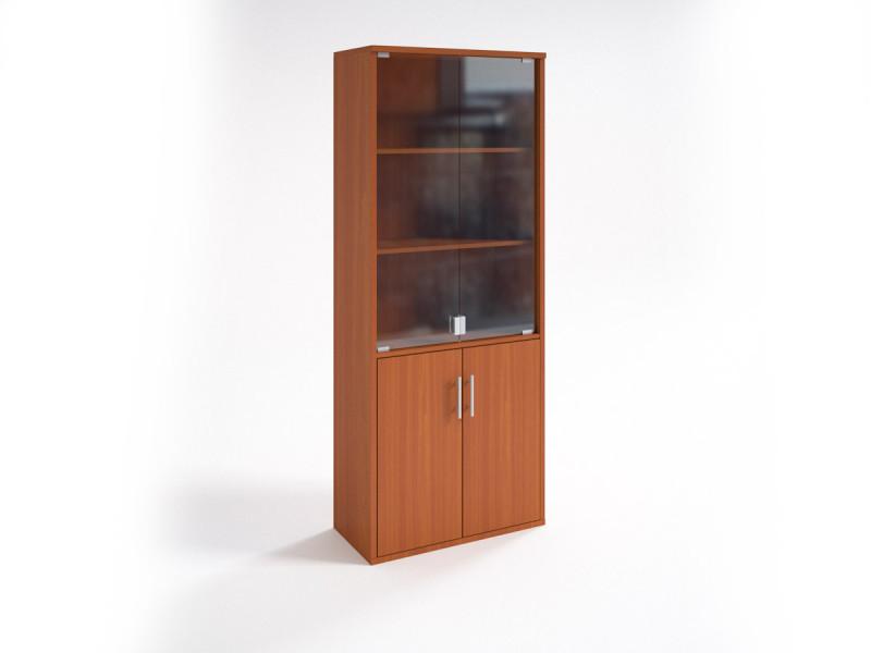 Шкаф для документов НШ-2 со стеклянными дверцами 760х380х1890 мм (ДхГхВ)