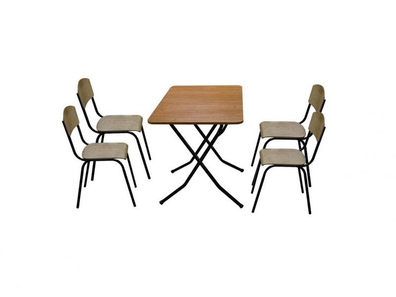 """Комплект мебели складной """"Дачник"""" (Стол Обеденный, 4 стула)"""
