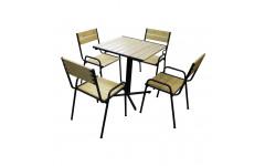 """Комплект мебели """"Летнее утро"""" (Стол Обеденный, 4 стула)"""