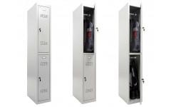 Металлический шкаф для раздевалок Практик ML 12-30 (Базовый модуль) 1830x300x500 мм (ВхШхГ)
