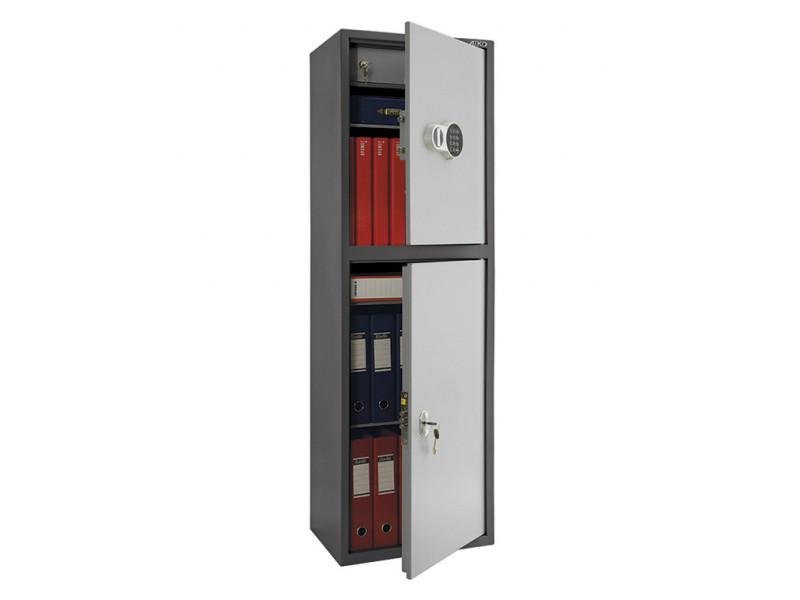 Бухгалтерский шкаф ПРАКТИК SL-150Т-EL/2 кодовый замок 460x340х1490 мм (ДхГхВ)