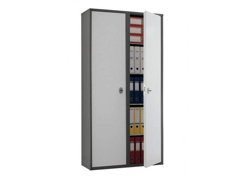 Бухгалтерский шкаф ПРАКТИК SL-185/2 механический замок 920х340х1800 мм (ДхГхВ)