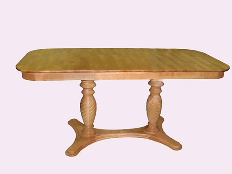 Стол из березы Оскар прямоугольный (Нераздвижной) 1200х700х750 мм (ДхГхВ)