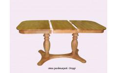 Стол из березы Оскар прямоугольный (Раздвижной) 1600(1200)х800х750 мм (ДхГхВ)