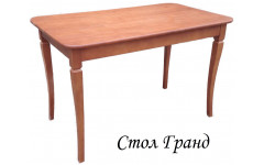 Стол из березы Гранд прямоугольный (Раздвижной) 1600(1200)х800х750 мм (ДхГхВ)