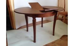 Стол из массива березы Гранд круглый (Нераздвижной) 930х750 мм (ДхВ)