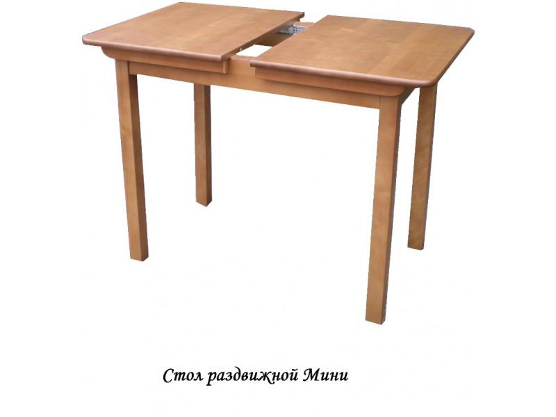 Стол из массива березы Мини (Раздвижной) 1200(900)х590х750 мм (ДхГхВ)