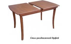 Стол из массива березы Орфей (Раздвижной) 1590(1240)х800Х750 мм (ДхГхВ)