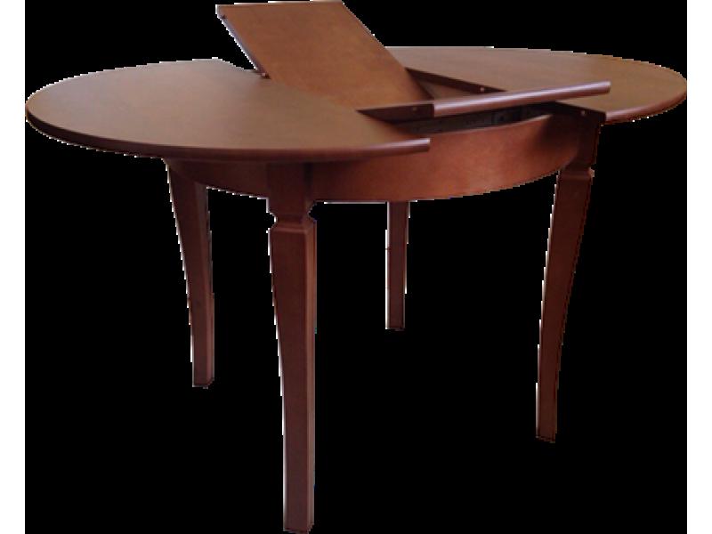 Стол из массива березы Гранд круглый (Раздвижной) 1230(930)х750 мм (ДхВ)
