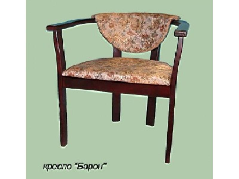 Кресло из массива березы Барон