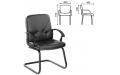 Кресло для приемных и переговорных СП-2 с подлокотниками экокожа (Черный)