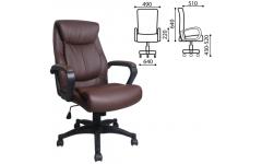 Кресло офисное РК-13 экокожа (Коричневый)