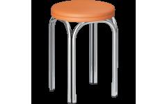 Табурет Стиль 4Х2 круглый каркас хром