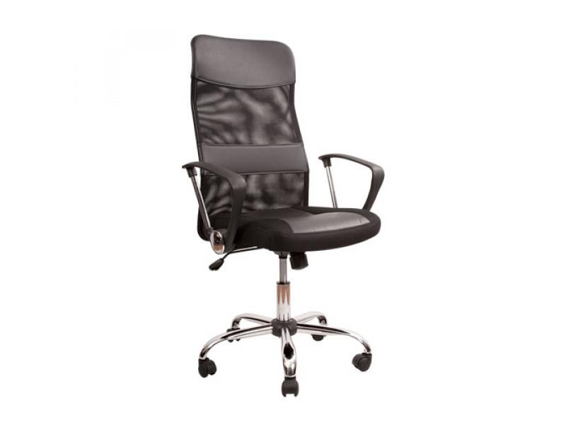 Кресло Мастер / Master хромированная крестовина ткань-сетка (Черный)