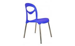 Пластиковый стул Фиати на металлических хромированных ножках