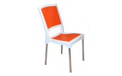 Пластиковый стул Нью Классик на металлических хромированных ножках