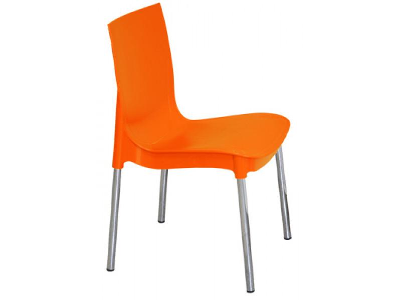 Пластиковый стул Рич на металлических хромированных ножках