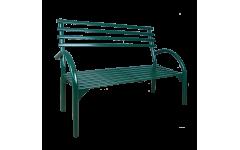 Металлическая скамейка со спинкой Беседа№3 разборная (Цвет металла на выбор) (Длина 1280мм)