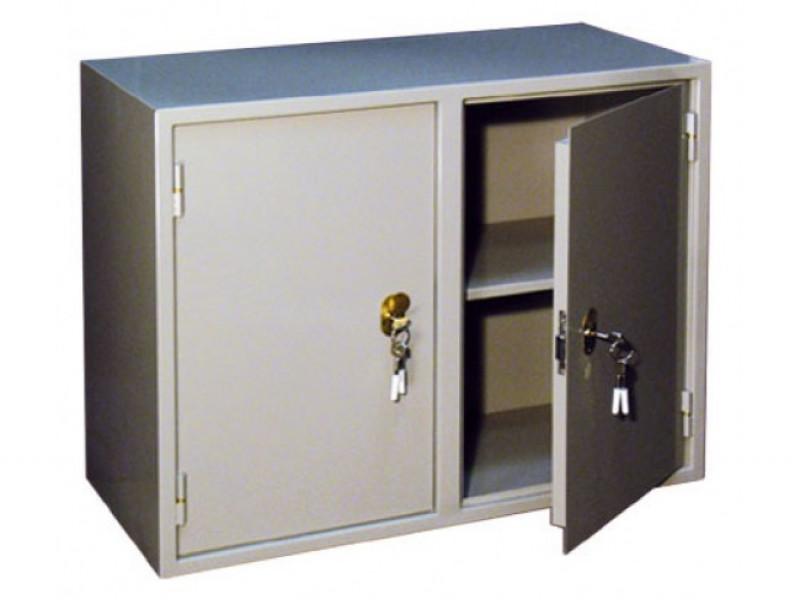 Бухгалтерский шкаф КБС-09 механический замок 880x390х700 мм (ДхГхВ)