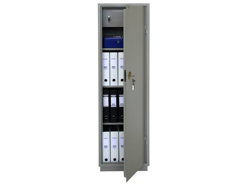 Бухгалтерский шкаф КБС-021т механический замок 420x360х1300 мм (ДхГхВ)