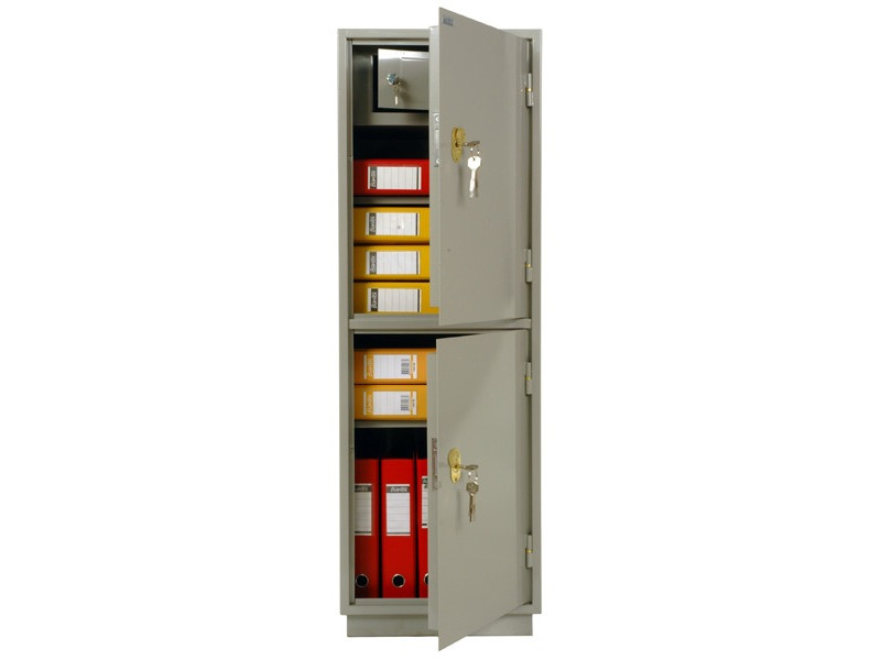 Бухгалтерский шкаф КБС-023т механический замок 420x360х1300 мм (ДхГхВ)