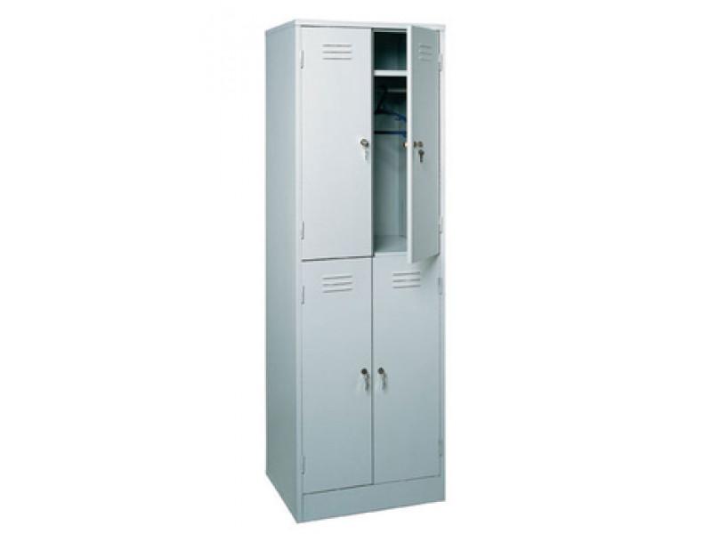 Металлический шкаф для одежды ШРМ-24 600х500х1860 (ДхГхВ)