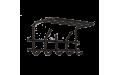 Вешалка настенная с полкой Эра-5