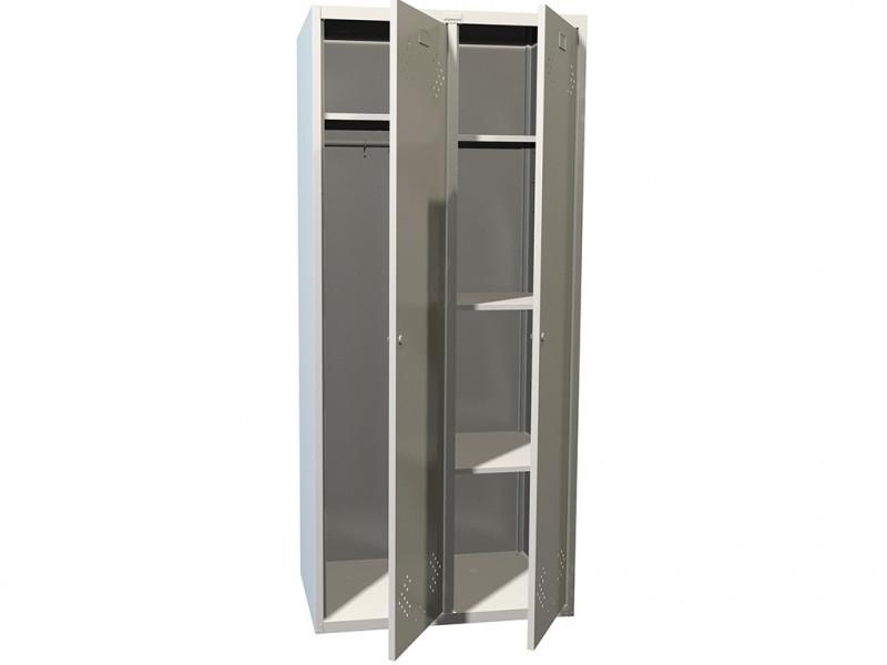 Металлический шкаф для одежды ПРАКТИК LS-21 U 600x500х1830 мм (ДхГхВ)