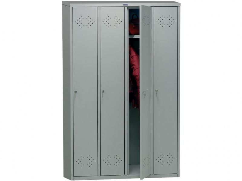 Металлический шкаф для одежды ПРАКТИК LS-41 1130x500х1830 мм (ДхГхВ)