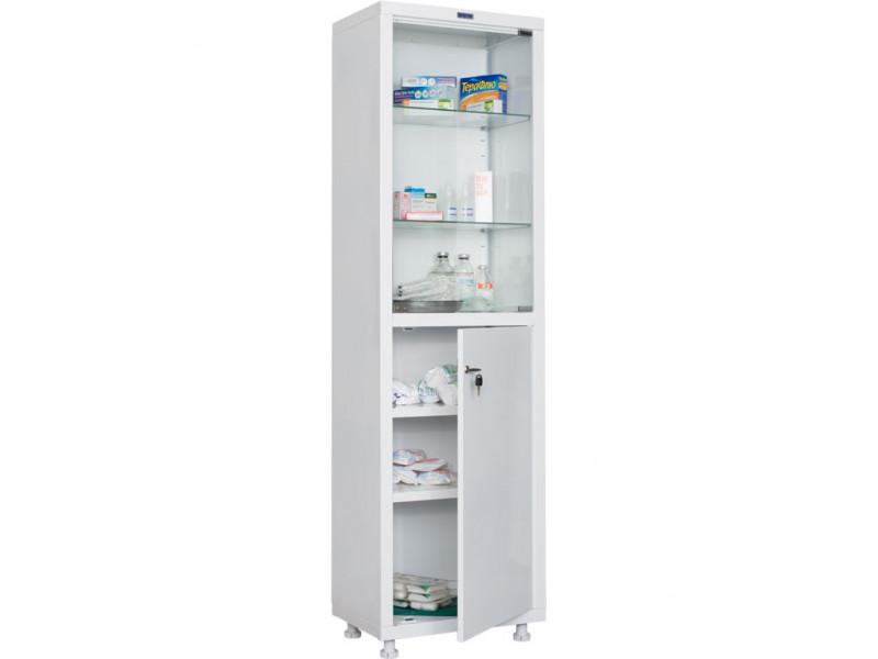 Шкаф медицинский HILFE МД 1 1657/SG 570х320х1655/1716* мм (ДхГхВ)