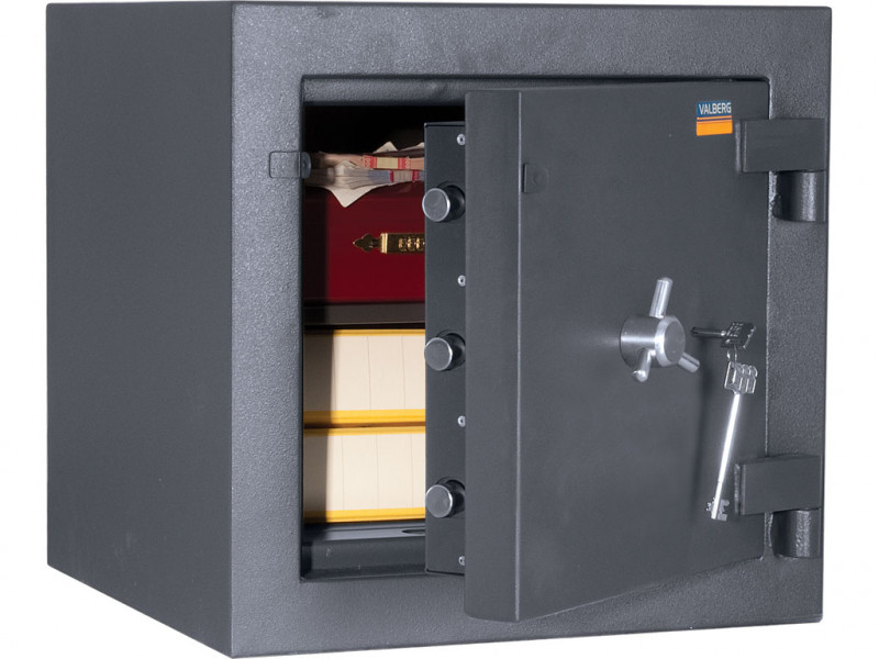 Сейф взломостойкий (3 класс) VALBERG ГРАНИТ III-50 мех. замок 510x510х500 мм (ДхГхВ)