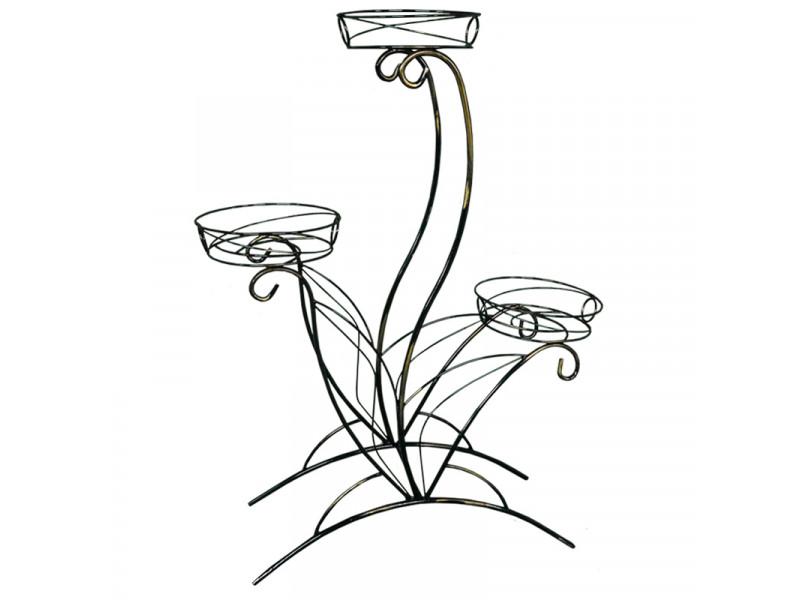 Подставка для цветов Лотос №3 напольная (Высота 910 мм)
