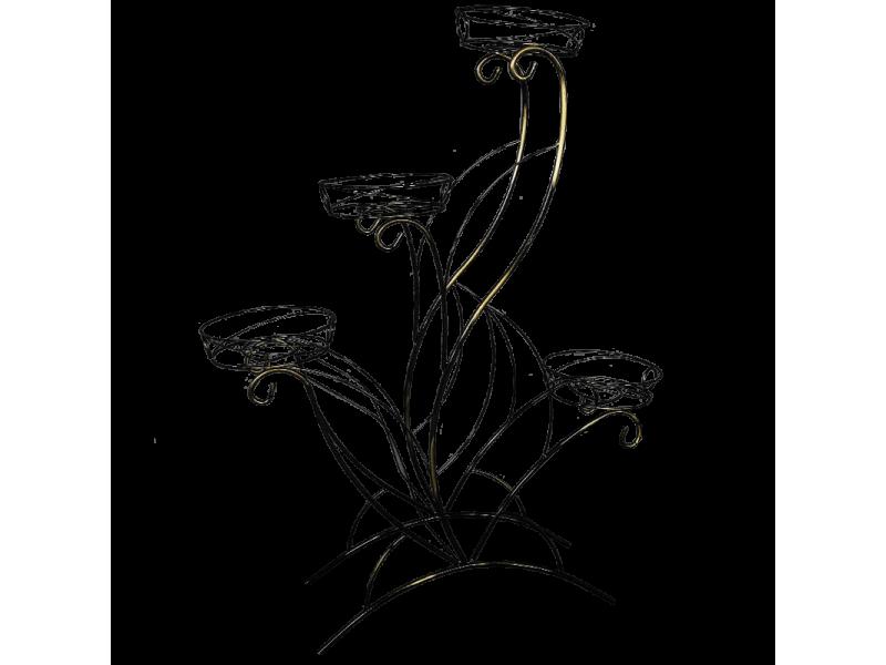 Подставка для цветов Лотос №4 напольная (Высота 1070 мм)