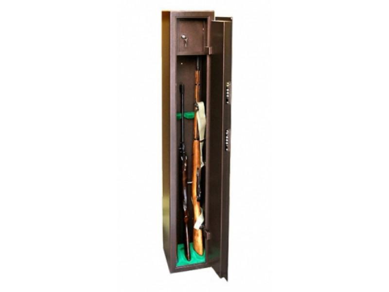 Сейф оружейный КО - 036Т на 3 ружья механический замок 250x280х1500 мм (ДхГхВ)