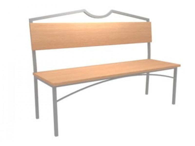 Скамейка №3 со спинкой  (Длина 1500)