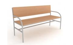 Скамейка №1 со спинкой  (Длина 1500)
