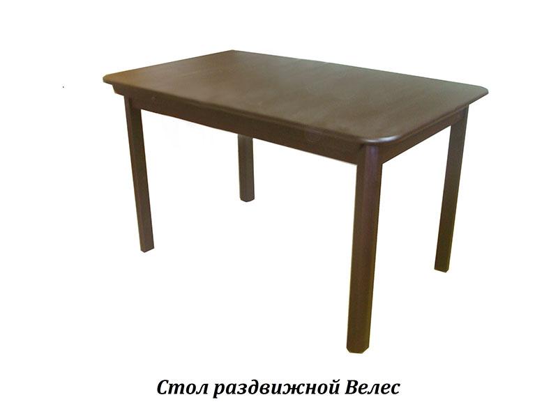 Стол из массива березы Велес (Нераздвижной) 1200х800х750 мм (ДхГхВ)