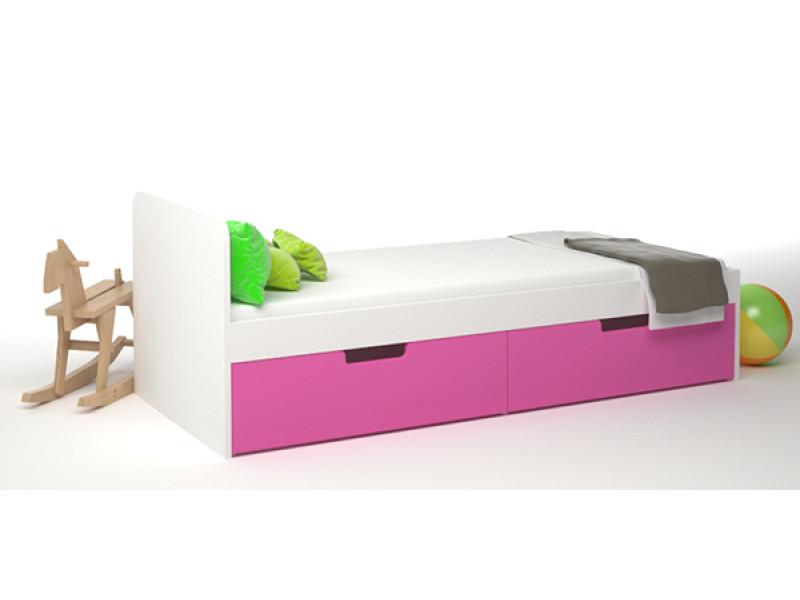 Кровать детская с двумя ящиками 1652х752x600x мм (ДхГхВ)