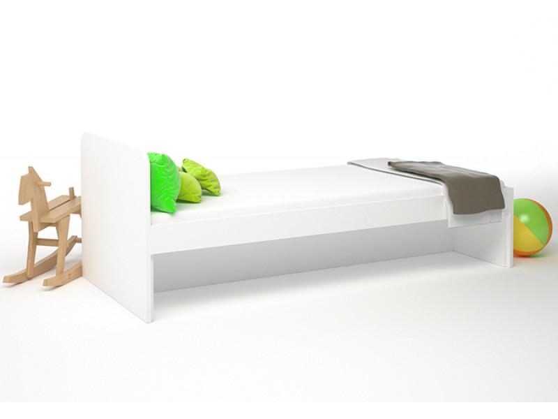 Кровать детская без ящиков 1900х854x722 мм (ДхГхВ) (Белая)