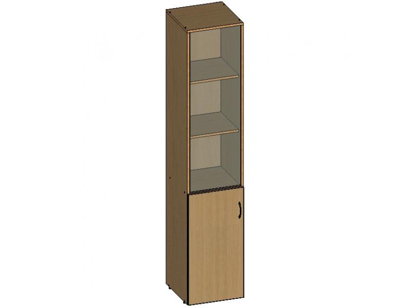 Шкаф для документов НШ-7 со стеклянной дверцей 383х380х1890 (ДхГхВ)