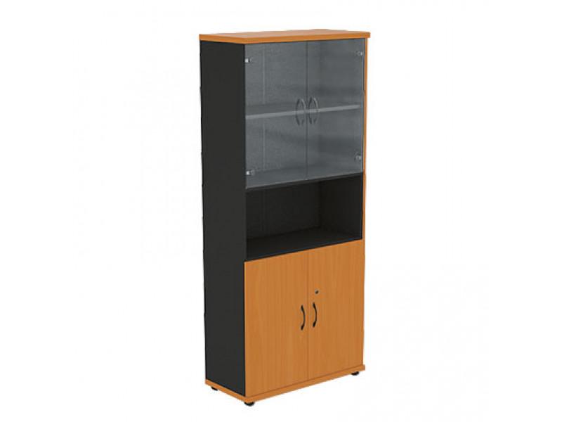 Шкаф со стеклянными дверцами R5S12 800х370х1849 мм (ДхГхВ)