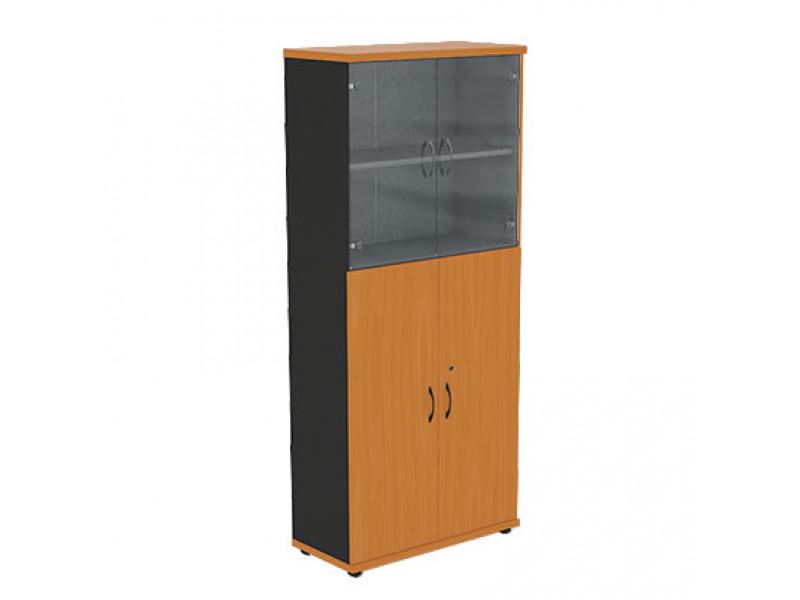 Шкаф со стеклянными дверцами R5S13 800х370х1849 мм (ДхГхВ)