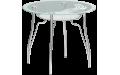 Стол стеклянный Лилия (Ножки хром / металлик) 900х770 мм (ДхВ)